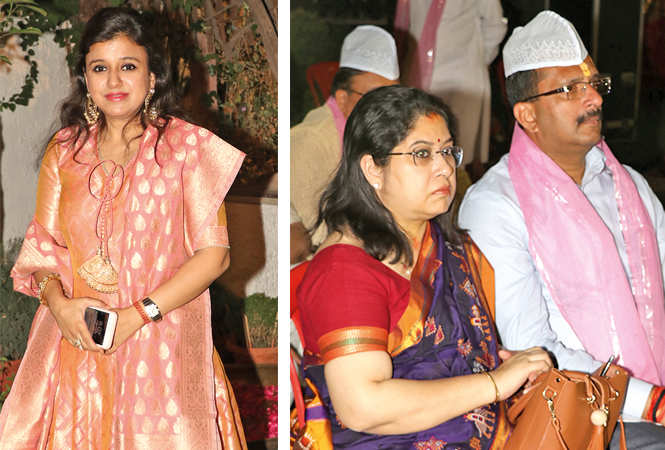 Shivani Gupta (R) Shreela and Nitin Ramesh Gokaran (BCCL/ Unmesh Pandey)