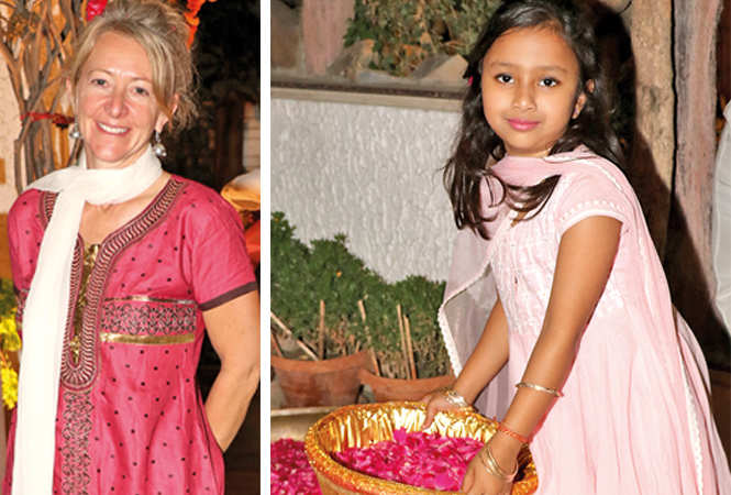 Adele and Aarna Gupta   (BCCL/ Unmesh Pandey)