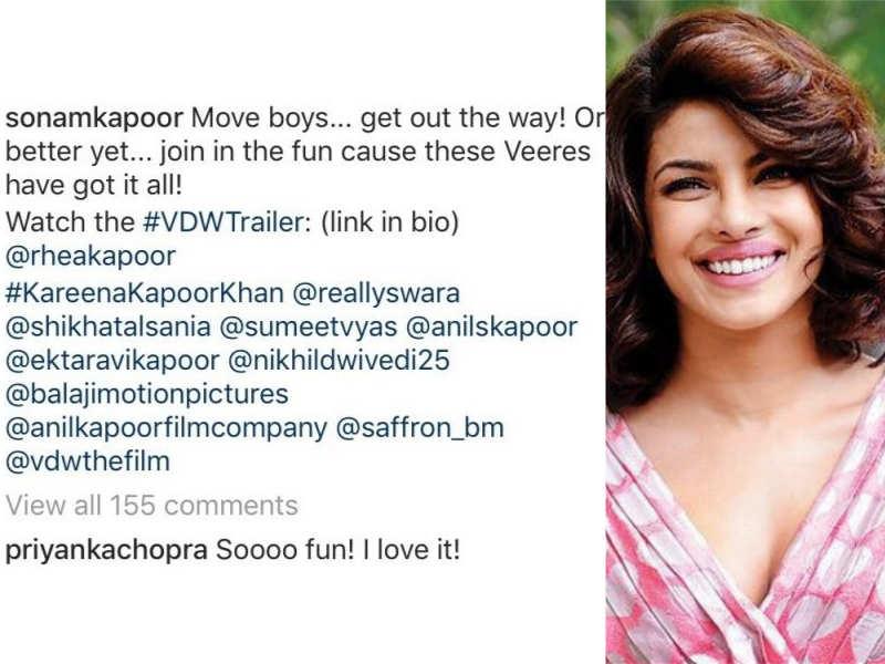 Watch Veere Di Wedding.Here S How Baywatch Star Priyanka Chopra Reacted After