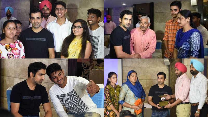 Gautam Gambhir dines with the families of Sukma attack martyrs in Delhi
