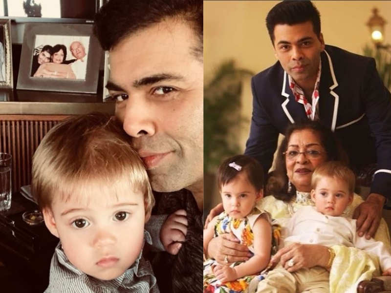 This latest picture of Karan Johar with his munchkin Yash