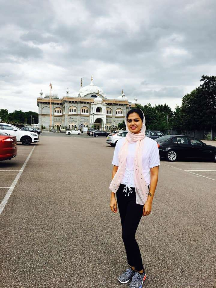 Anusree during one of her travels