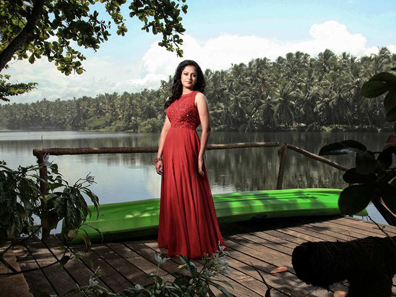 Red seems to Anusree's favourite colour