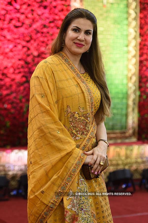 Nina Reddy's daughter's starry wedding reception