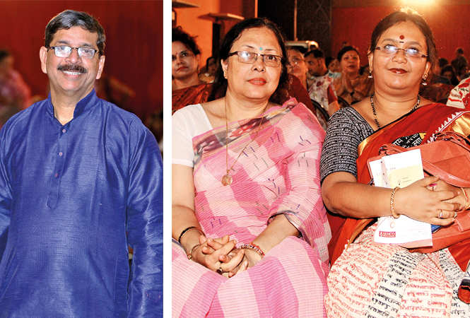 Arun Kumar Bannerjee and Enakshi Sinha (L) and Soma Sen Bhowmik (BCCL/ Aditya Yadav)