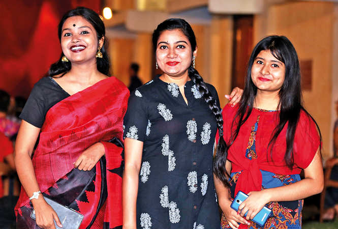 (L-R) Prakriti,  Anjali and Ananya  (BCCL/ Aditya Yadav)