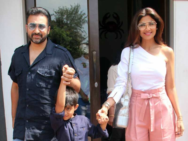 Photos: Shilpa Shetty snapped on a family date with husband
