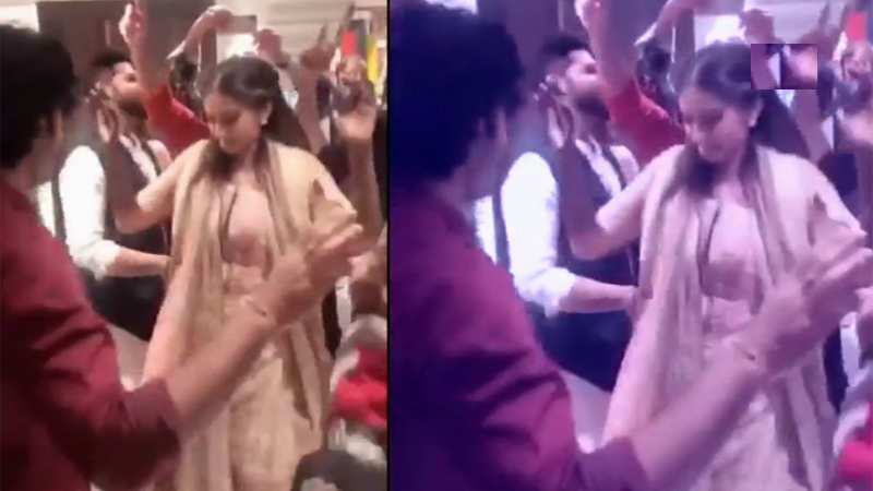 Sonam Kapoor and her dad Anil Kapoor shake a leg at mehendi ceremony