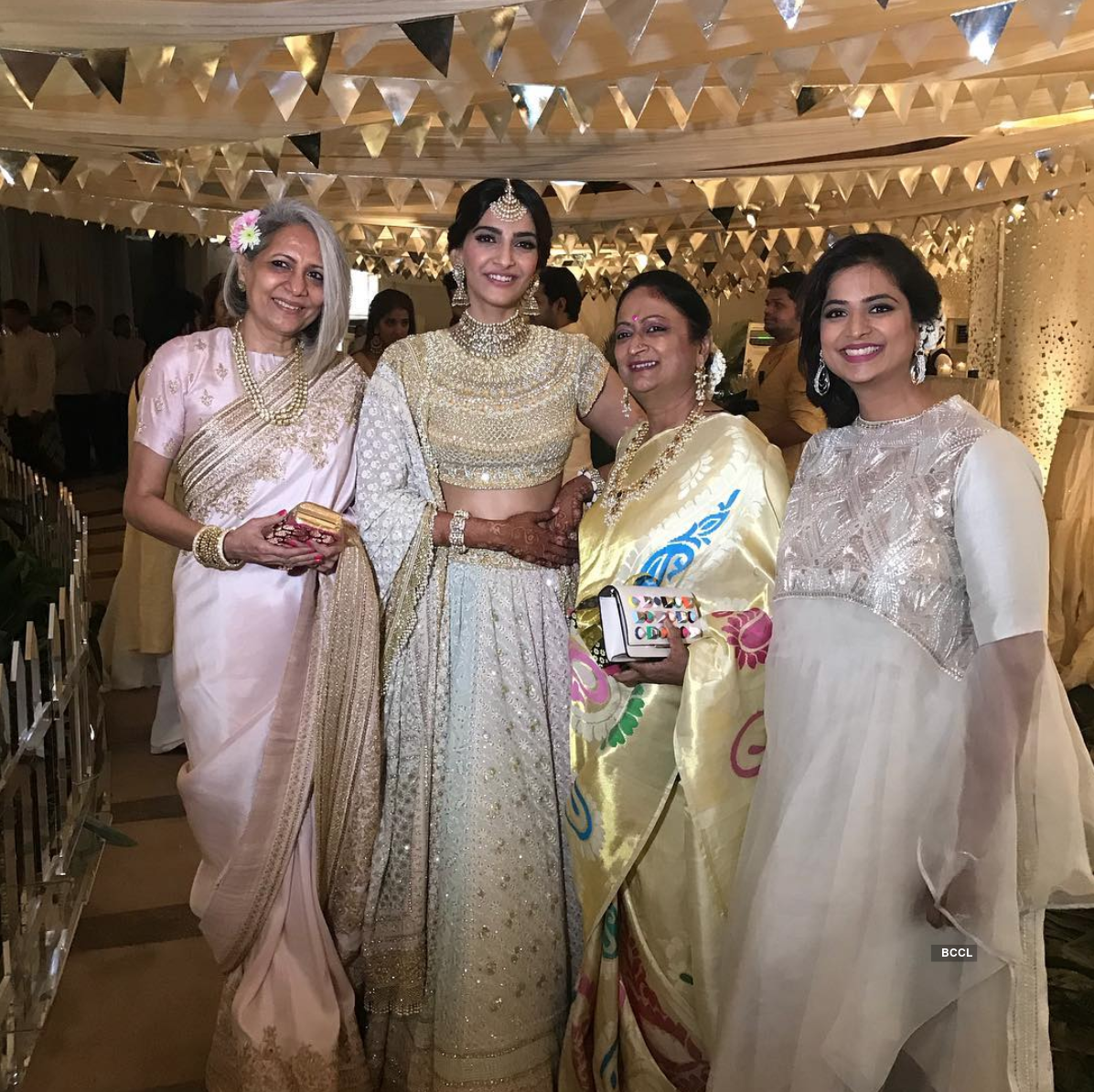 Inside pictures of Sonam Kapoor & Anand Ahuja's glittery sangeet ceremony