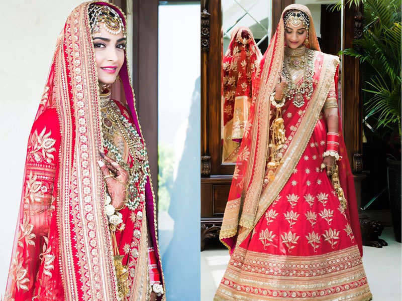 Sonam Kapoor Makes For A Surreal Bride In A Traditional