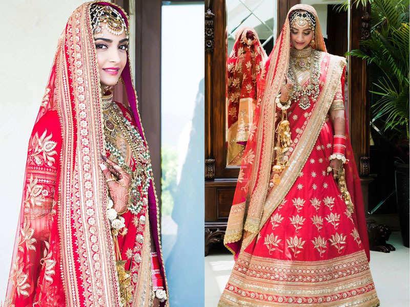 Sonam Kapoor Wedding Bridal Look Photo.