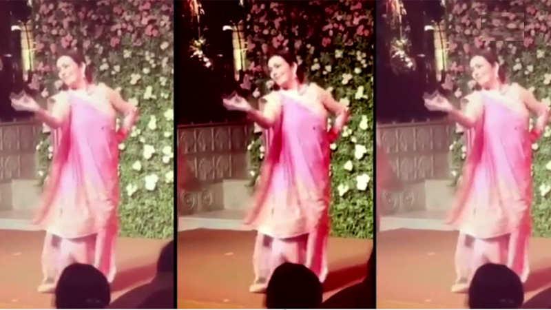 Watch: Nita Ambani dances to Sridevi's song 'Navari Majhi' at Isha Ambani's engagement party