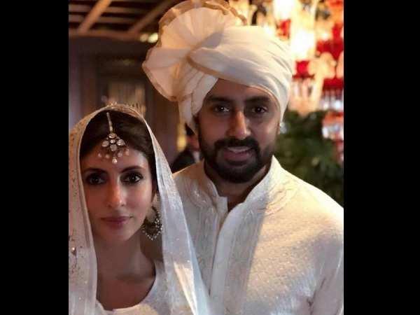 Abhishek Bachchana and Shweta Bachchan Nanda at Sonam Kapoor Wedding