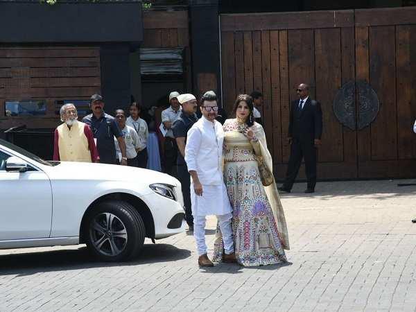 Sanjay Kapoor at  Sonam Kapoor Marriage