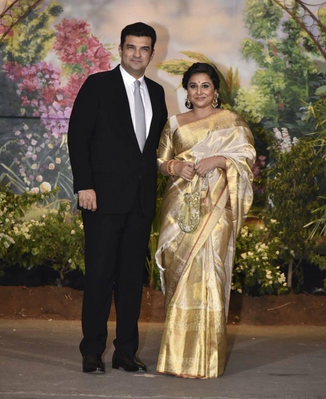 vidya balan and siddharth roy kapur photo from Sonam Kapoor reception
