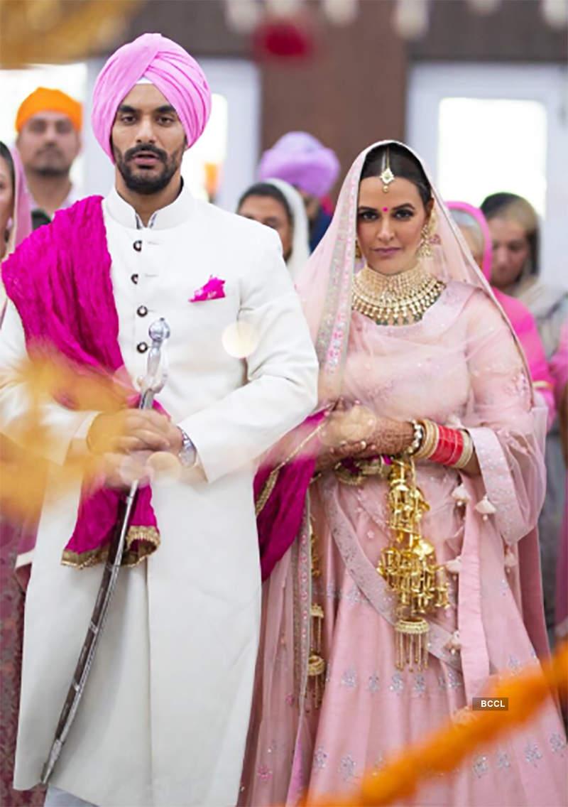 Neha Dhupia's wedding pictures
