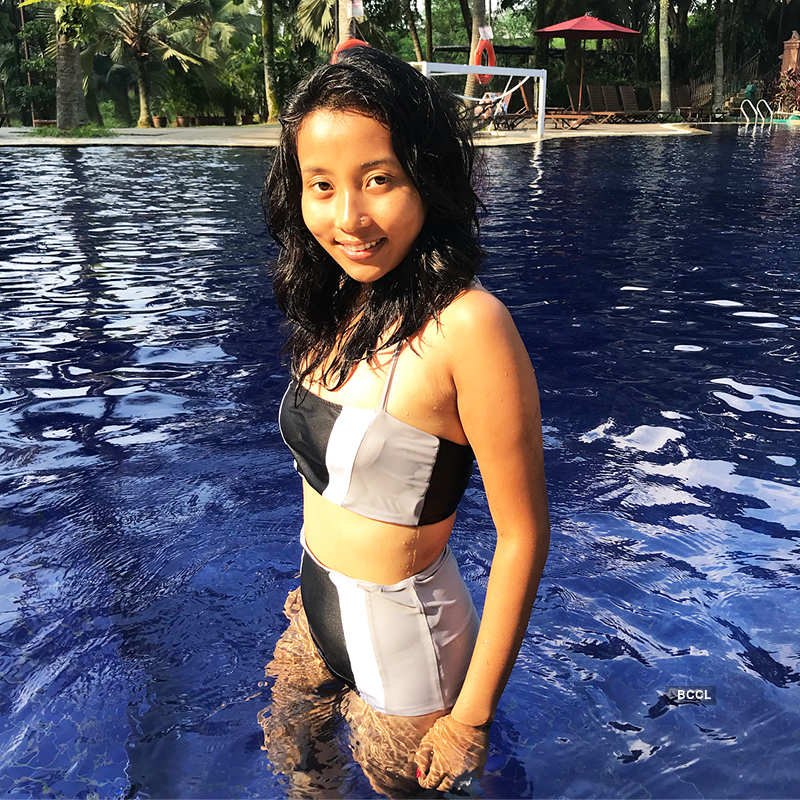 Swimsuit pictures of Milind Soman's wife Ankita Konwar show you how to beat the heat