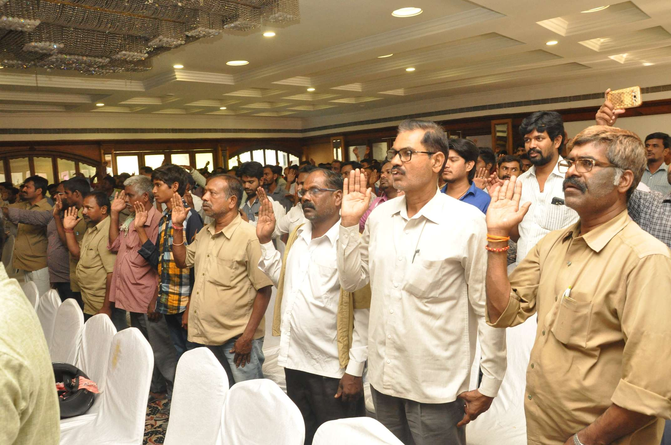 People taking pledge on the occassion