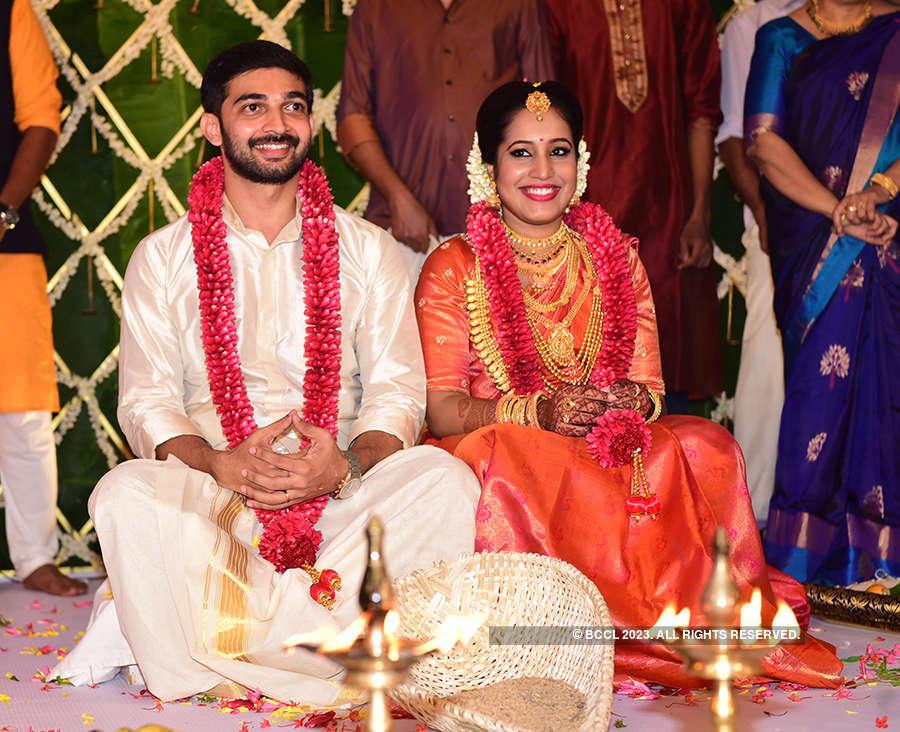 Inside pictures of Malayalam actor Sreejith Vijay's wedding