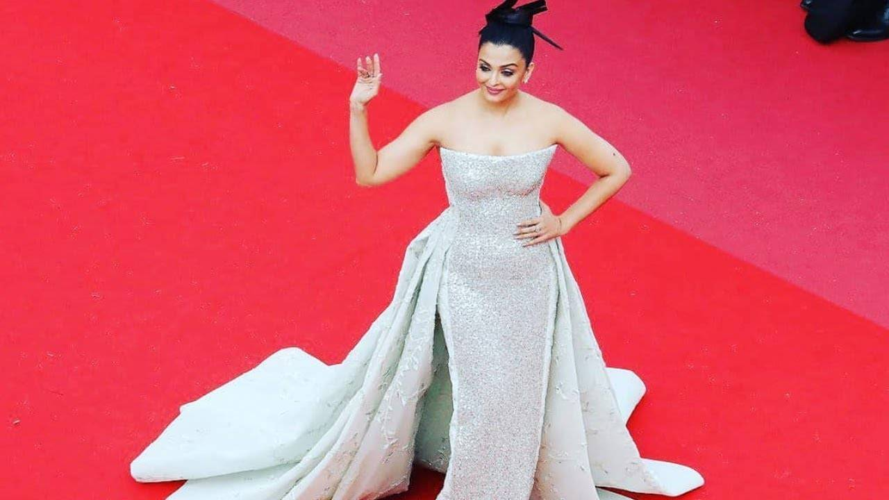 Cannes 2018: Aishwarya Rai Bachchan stuns in a  shimmery couture gown