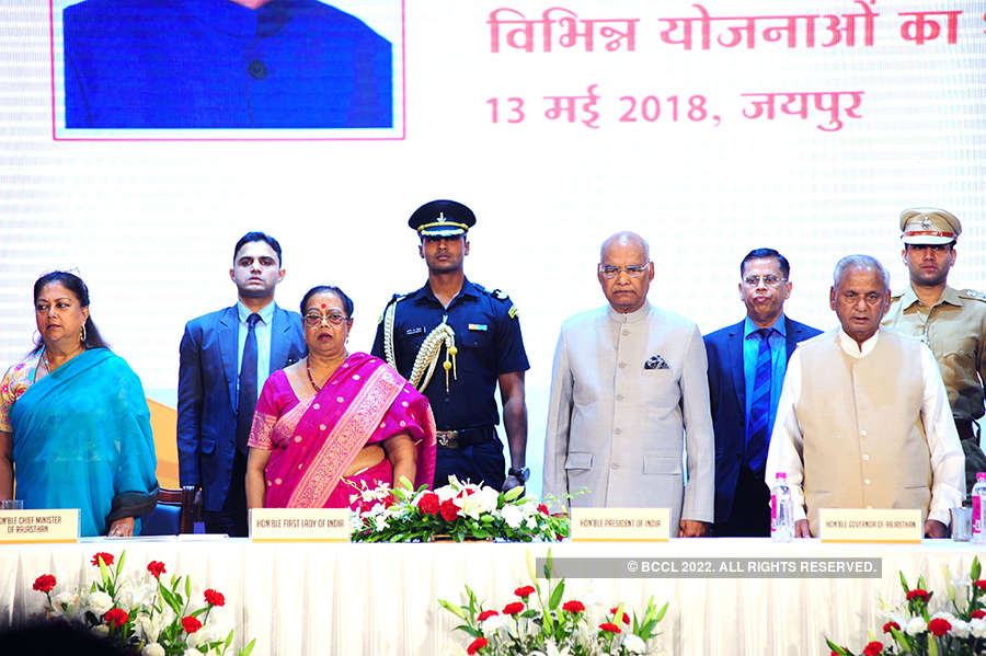 President Ram Nath Kovind launches welfare schemes in Rajasthan