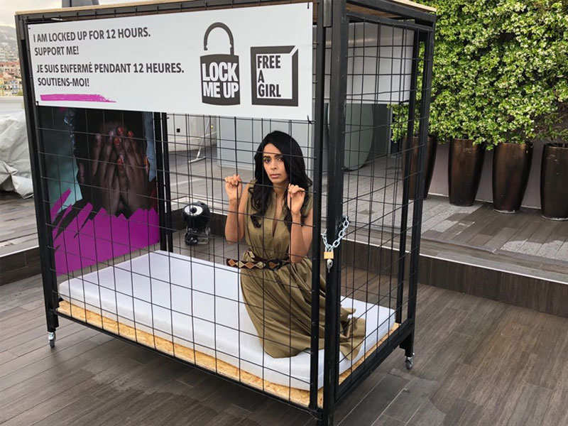 Cannes 2018: Mallika Sherawat locks herself in a cage for a cause