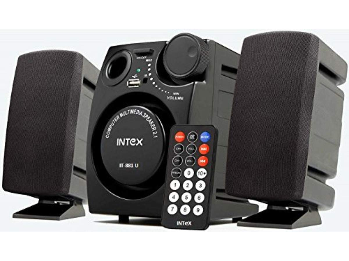 Intex IT-881U 2.1 channel multimedia speakers: Available for Rs 999 after a discount of Rs 1,500 on Amazon