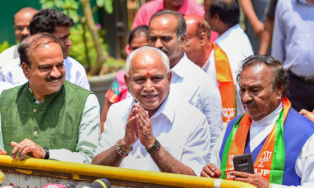Yeddyurappa resigns as Chief Minister ahead of trust vote