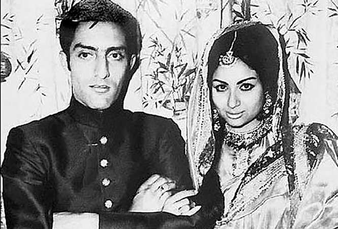 Mansoor Ali Khan Pataudi and Sharmila on their wedding day  (BCCL)
