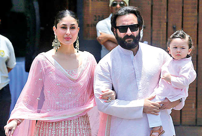 Taimur photographed with his parents Kareena Kapoor Khan and Saif  Ali Khan (BCCL)