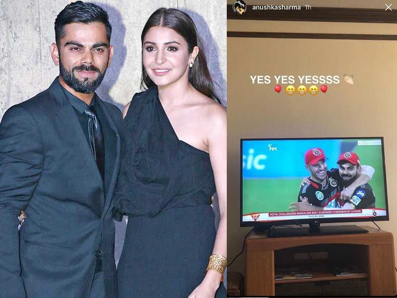 38e5aa5ea Anushka Sharma expresses her happiness on Instagram as her hubby ...