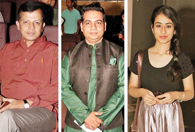 (L) Partha Sarthi Sen Sharma (C) Waseem Siddiqui (R) Geet (BCCL/ Aditya Yadav)
