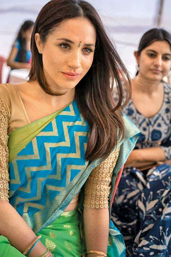 Meghan Markle and Suhani during her visit to India last year
