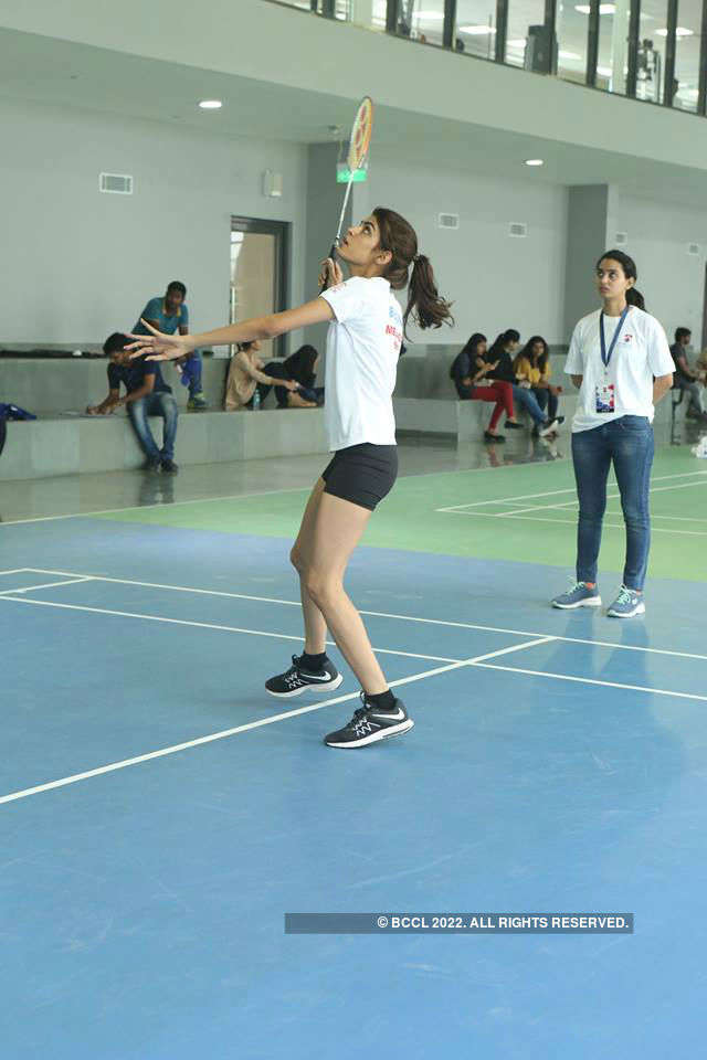 Miss India 2018 finalists at Bennett University: Badminton Challenge