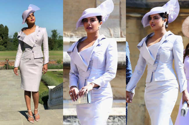 Priyanka Chopra in Vivienne Westwood for Royal Wedding