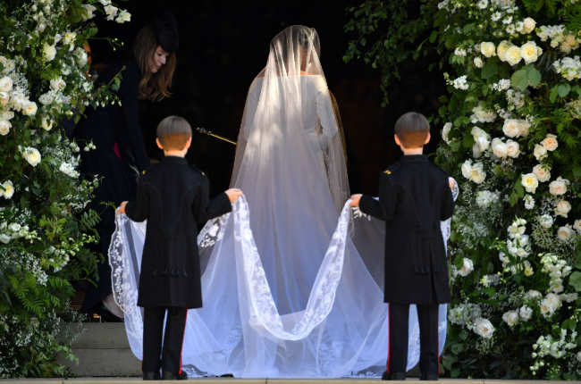 Meghan Markle wedding  train veil