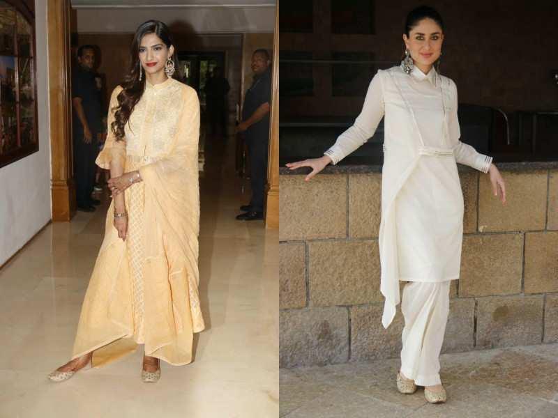 Photos: Sonam K Ahuja and Kareena Kapoor Khan go traditional for 'Veere Di Wedding' promotions