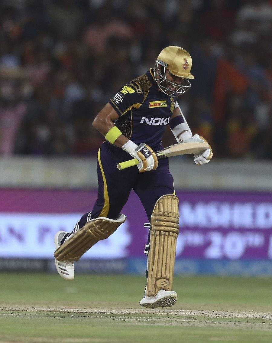 The Knight Riders win by 5 wickets against Sunrisers