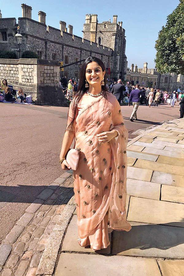 Mumbai activist Suhani Jalota at the Windsor Castle for the Royal Wedding on Saturday