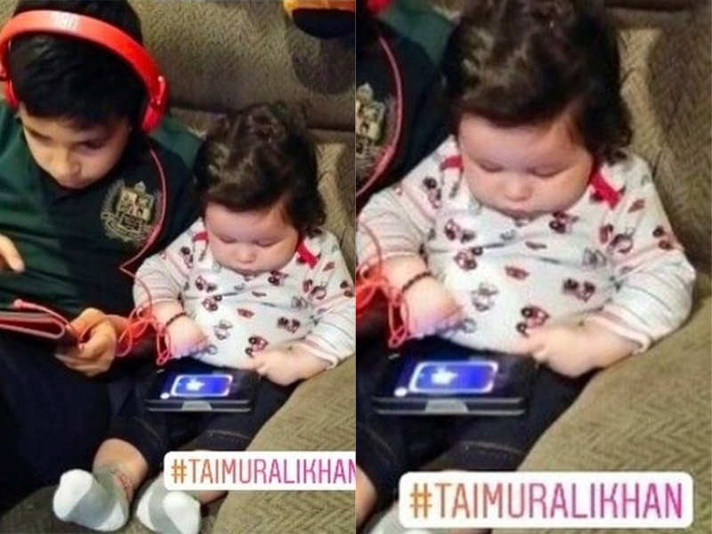 This picture of Taimur Ali Khan playing with a tablet is the cutest thing you will see today!