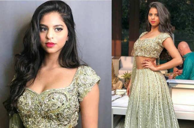 Suhana Khan gold lehenga