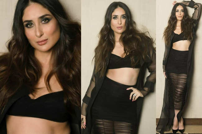 Kareena Kapoor sexy in black