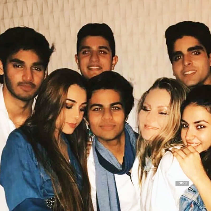 Ahan Shetty celebrates his 23rd birthday with rumoured girlfriend Tania Shroff and friends