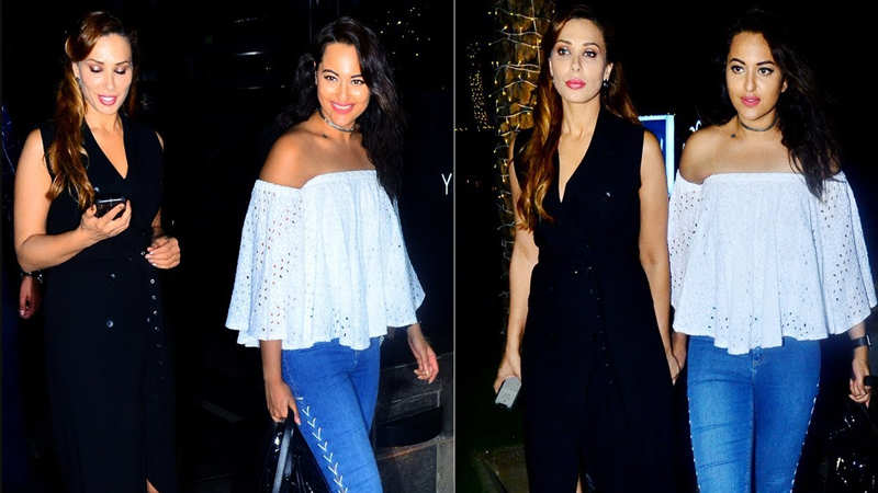 Iulia Vantur steps out for a dinner date with Sonakshi Sinha