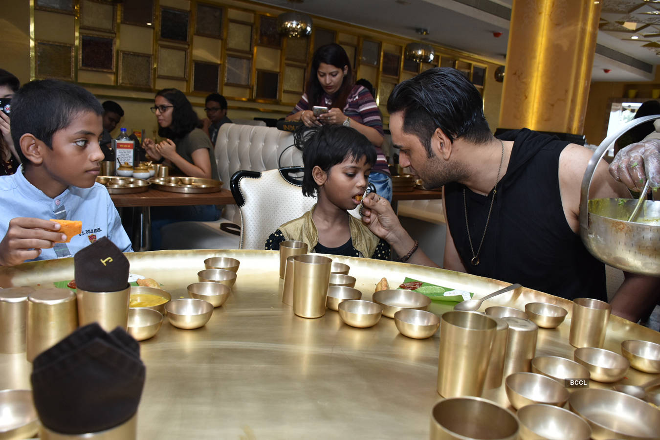 Vikas Gupta's lunch date with orphanage kids
