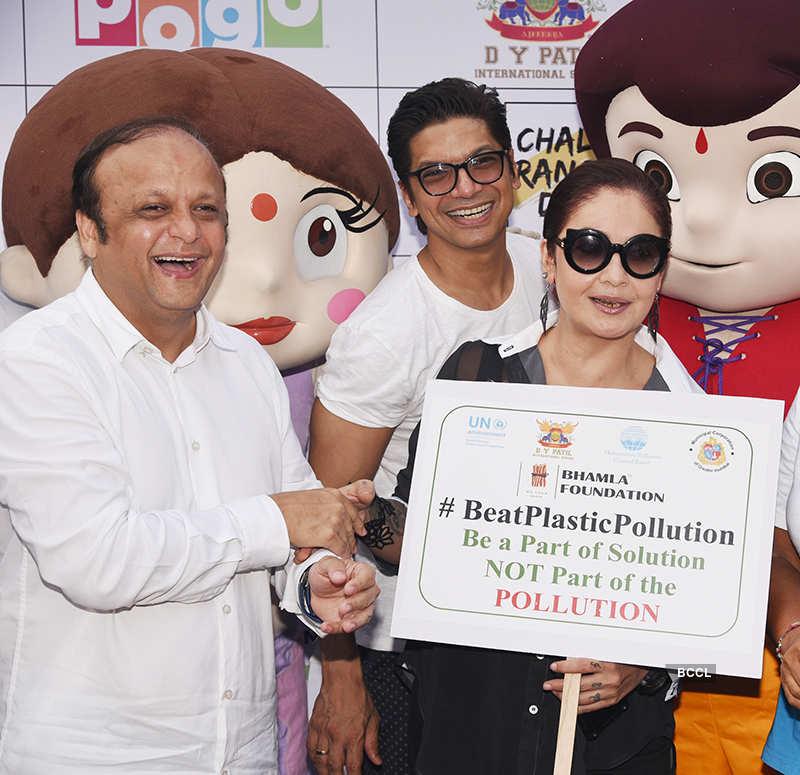 Celebs attend #BeatPlasticPollution campaign