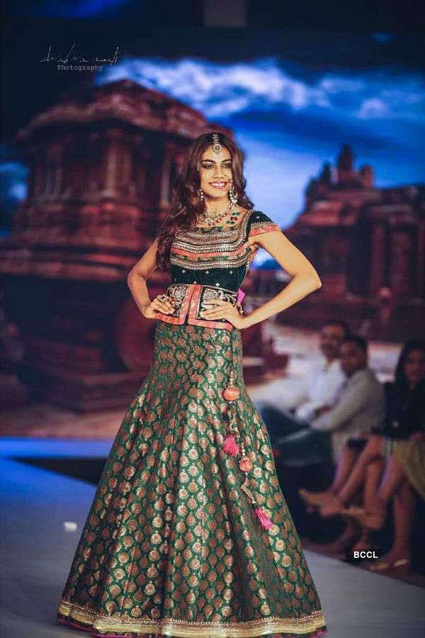 Apeksha Porwal as showstopper at Bangalore Times Fashion Week 2018