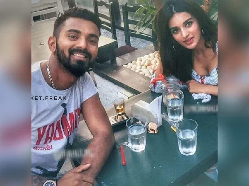 Image result for kl rahul with nidhi agerwal