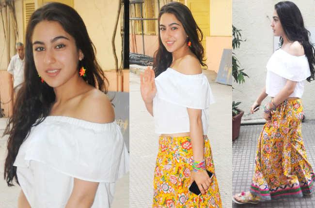 Sara Ali Khan's skirt