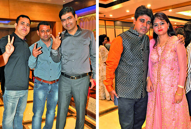 (L) Dina Nath, Sanjay and Mudit (R) Jai and Archana (BCCL/ AS Rathor)